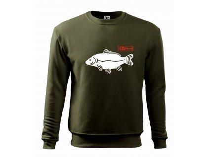 Mikina pánská HAPALI Fishing Kapr military r