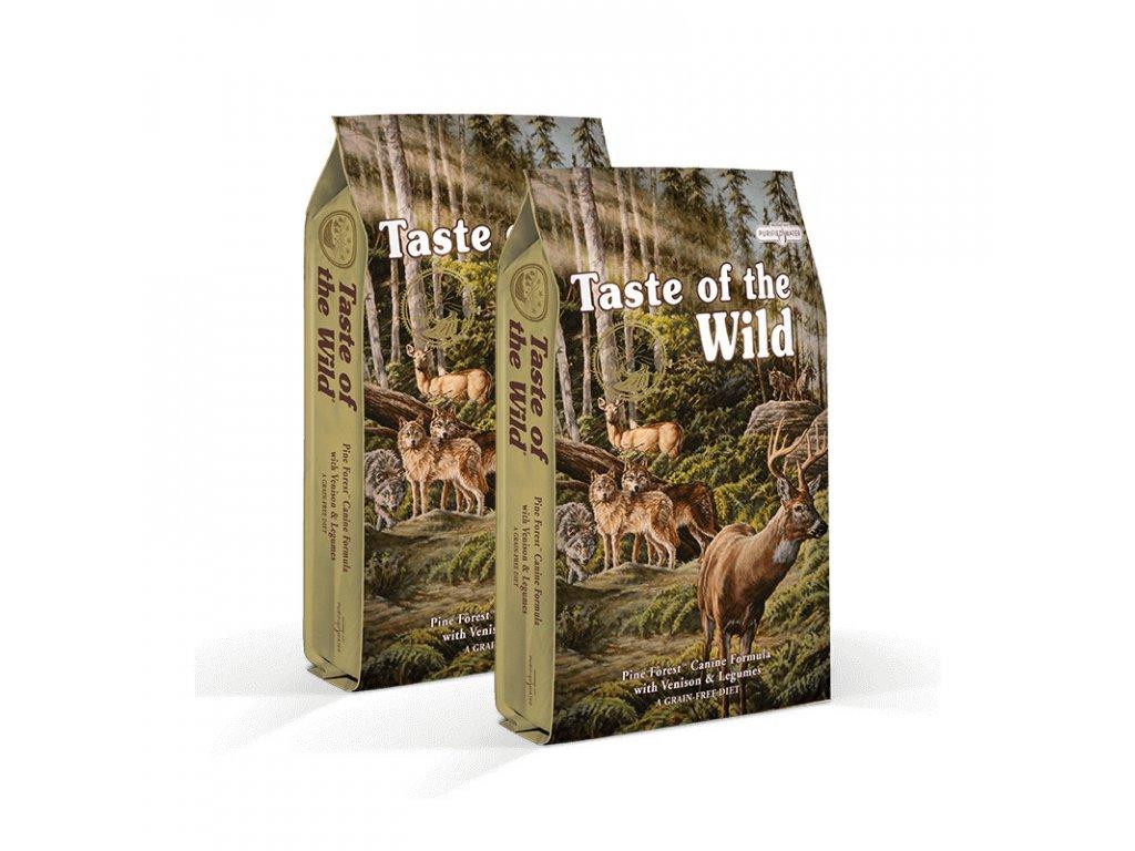 taste of the wild pine forest 2 x 122 kg doprava zdarma