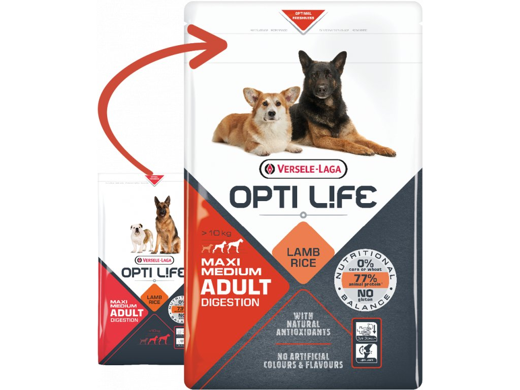 opti life adult digestion medium maxi 12 5kg