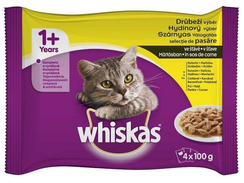 Whiskas Drůbeží výběr v želé 4 x 100 g