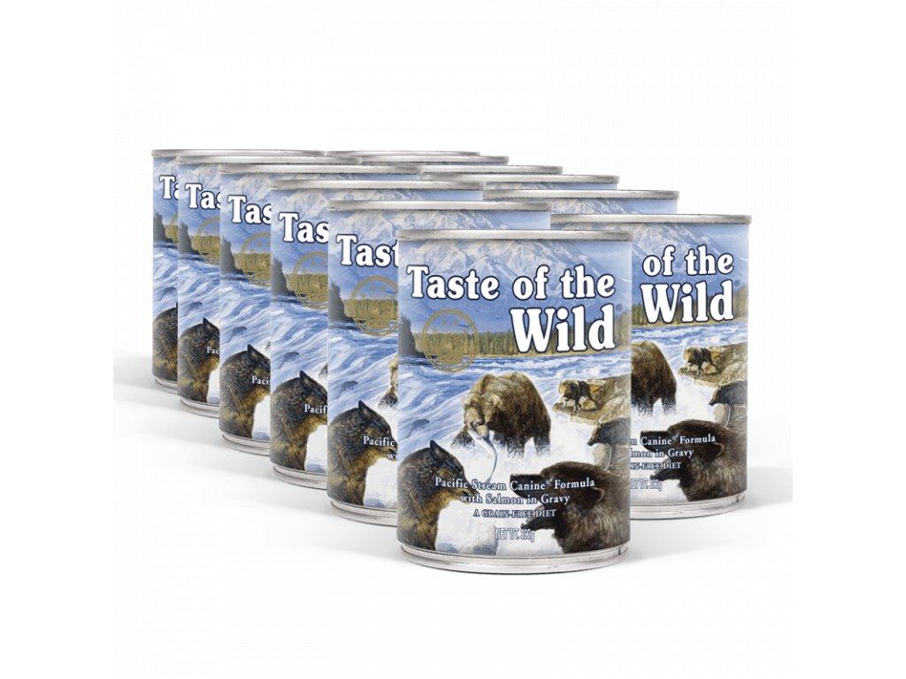 pack taste of the wild pacific stream konzervy 12x390 g