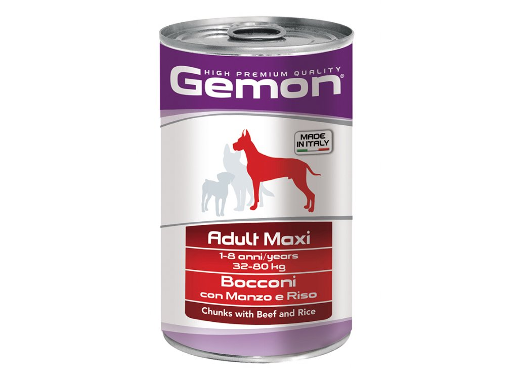 dog hp adult maxi hovezi s ryzi 1250g