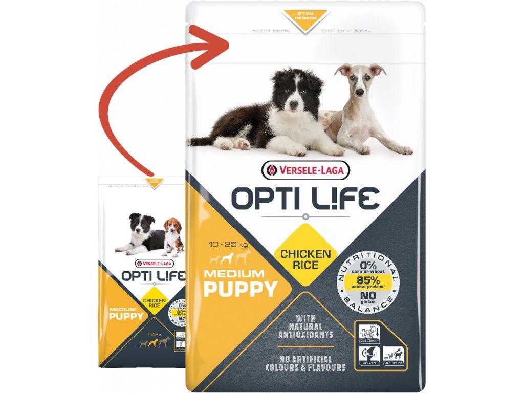 opti life puppy medium 2 5kg
