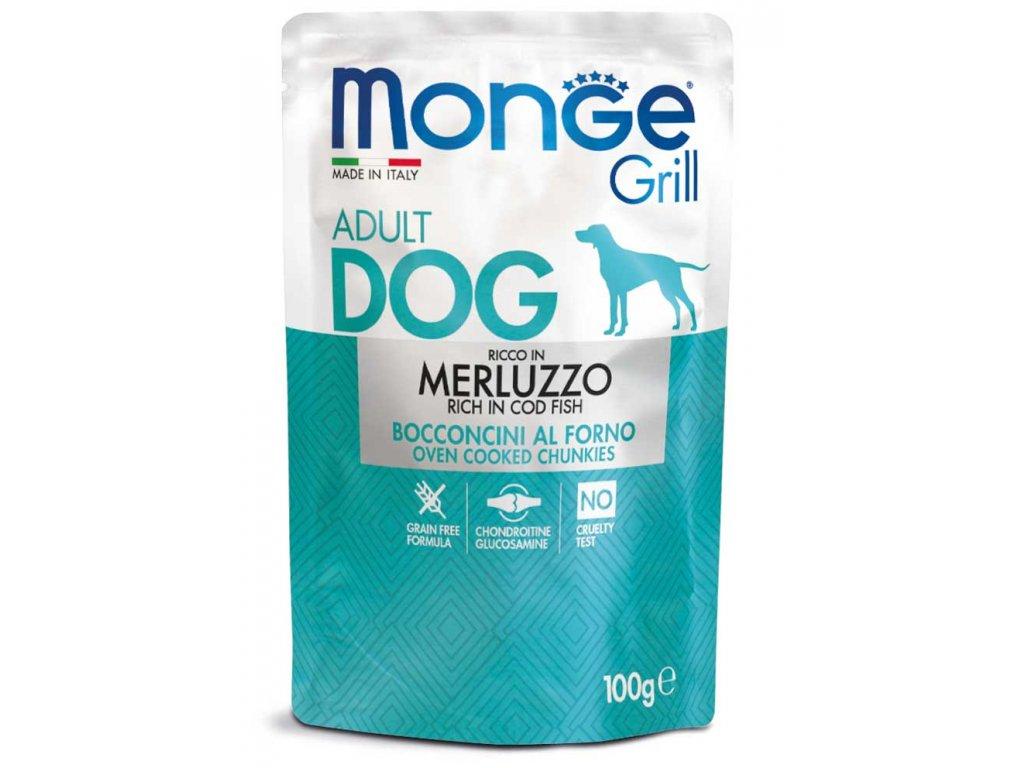 monge cane umido grill merluzzo