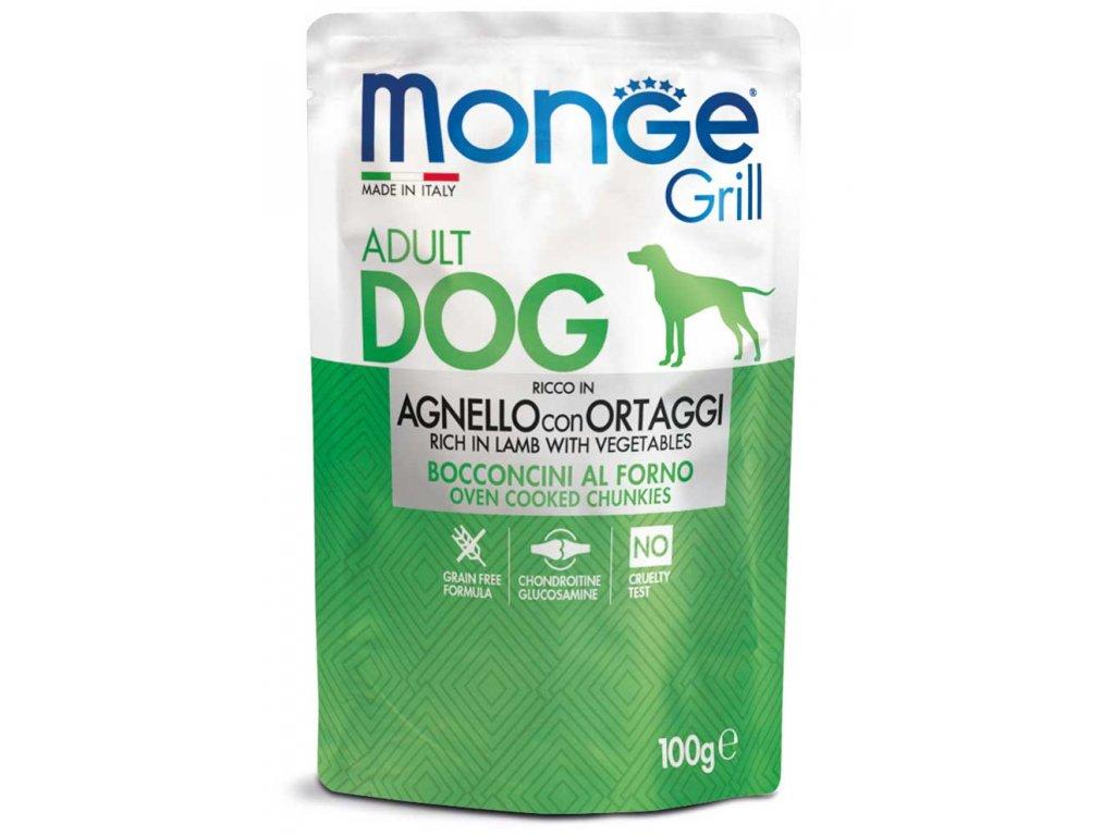monge cane umido grill agnello e verdure