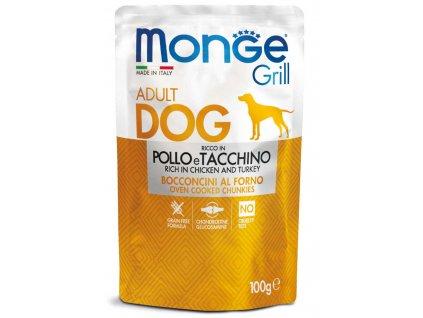 monge cane umido grill pollo e tacchino