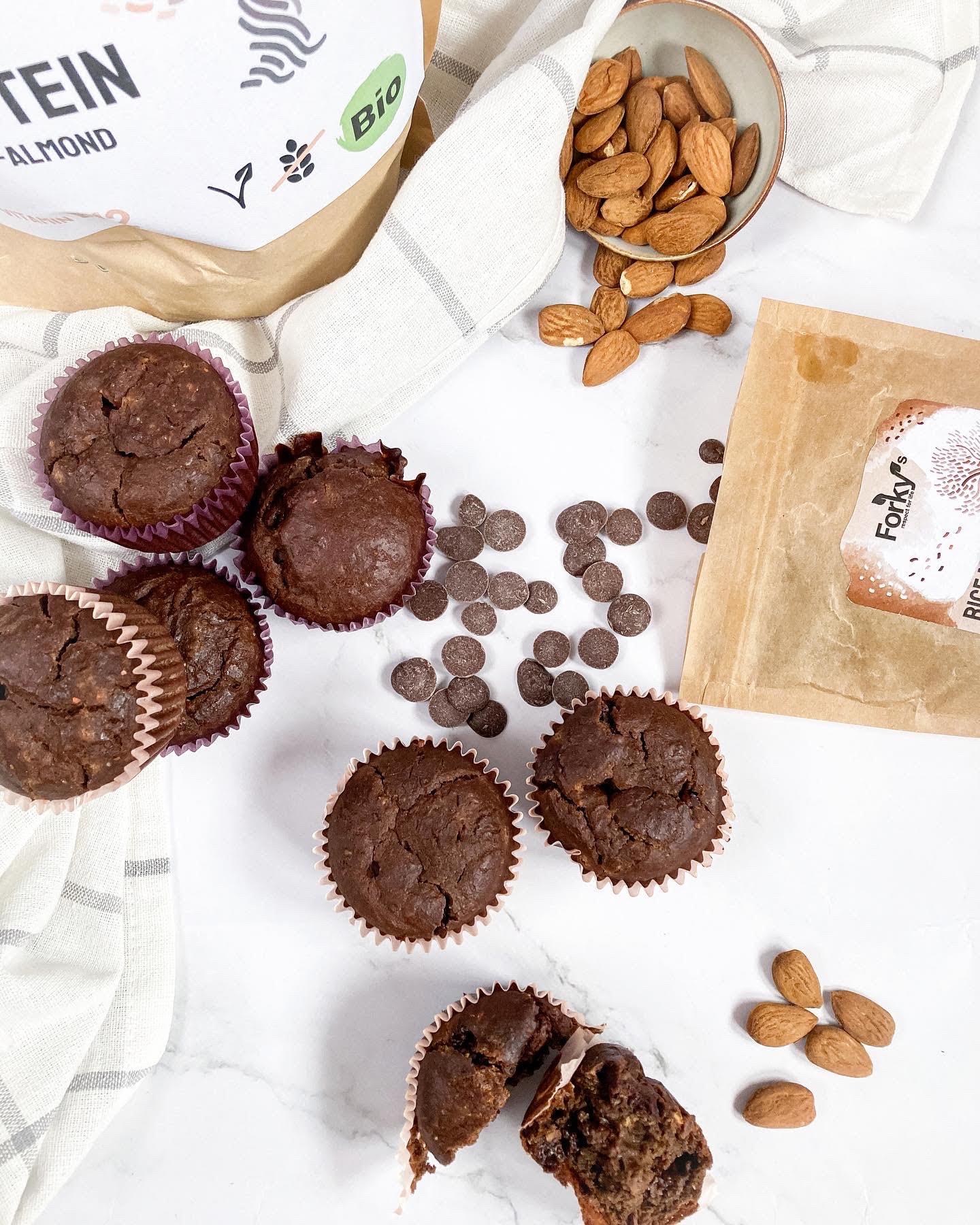 Proteinové čoko muffiny