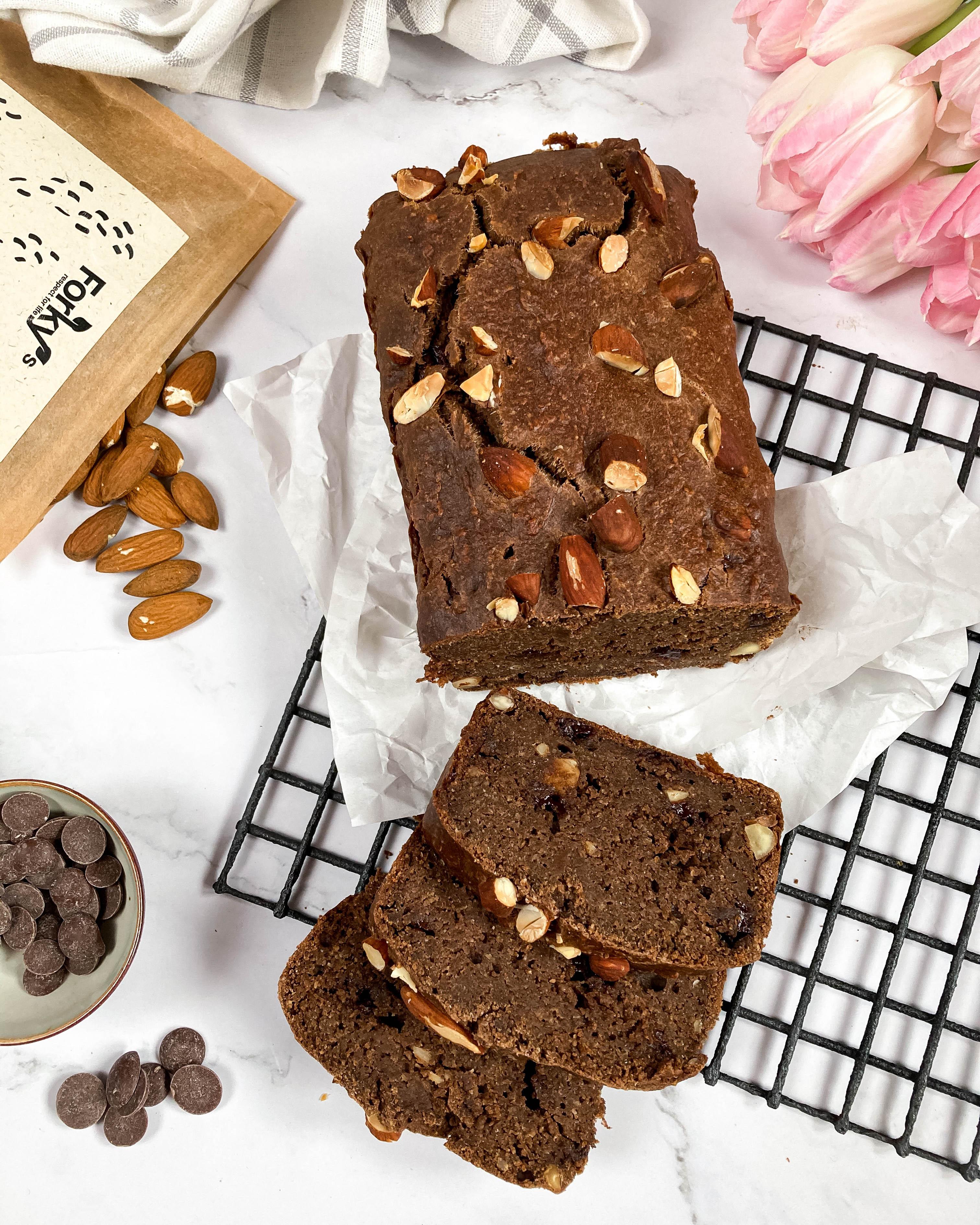 Čokoládovo-mandlový chlebík