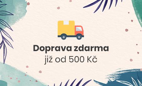 Doprava zdarma od 500 Kč