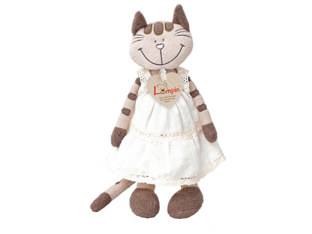 Kočka ANGELIQUE (23 cm) v šatech