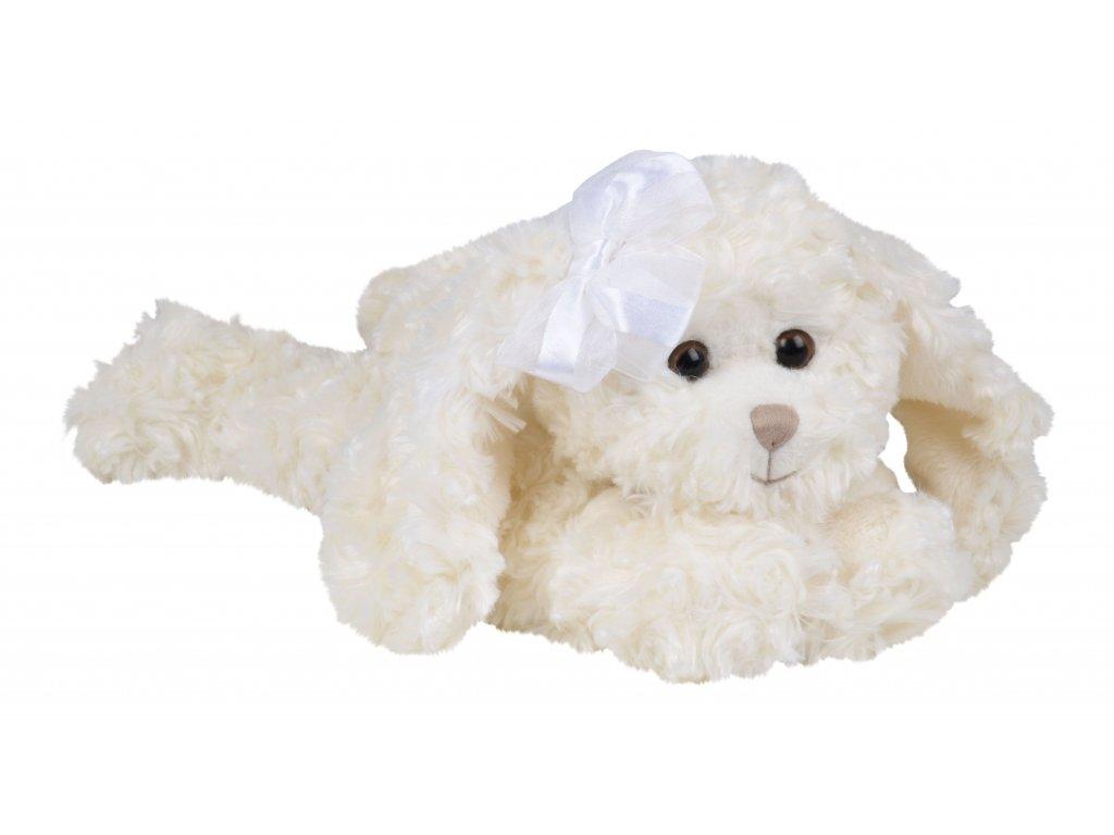 BK TIFFANY bílý pes s mašlí