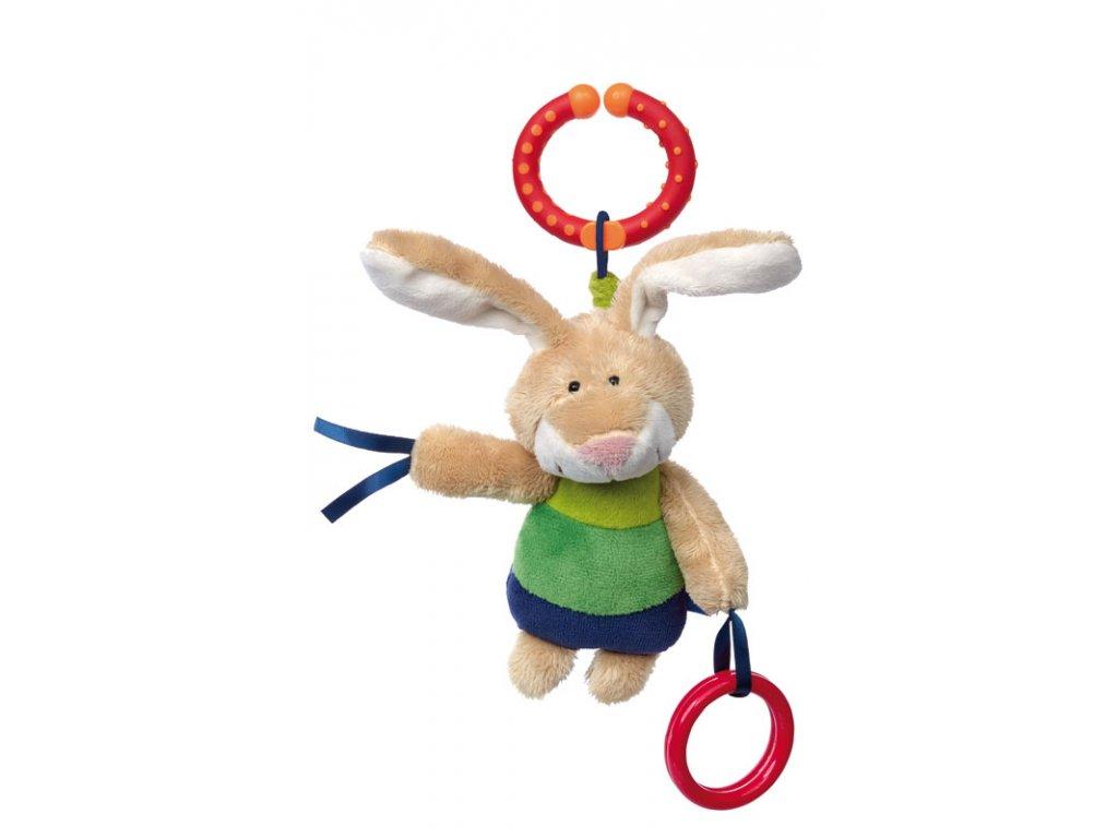 Zajíc BLUE LINE BABY hračka na zavěšení na autosedačku