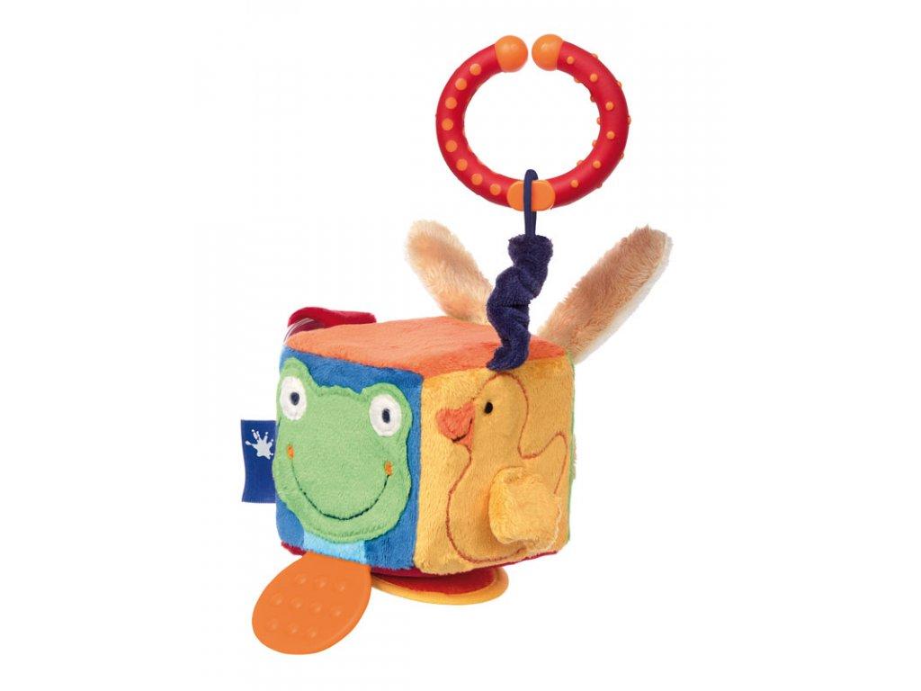 kostka  BLUE LINE BABY hračka na zavěšení na autosedačku