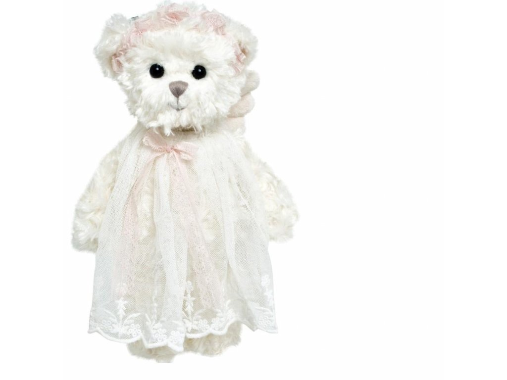 BK SWEET HAILEY ANGEL medvídek s růžovou stuhou