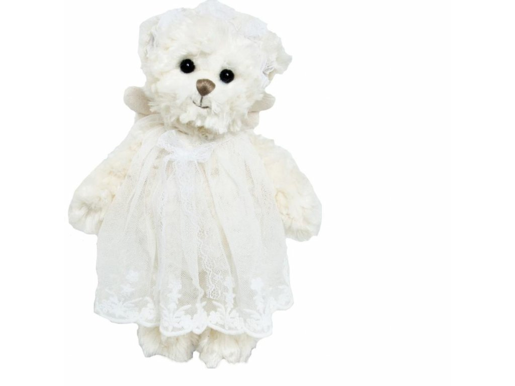 BK SWEET HAILEY ANGEL medvídek s bílou stuhou