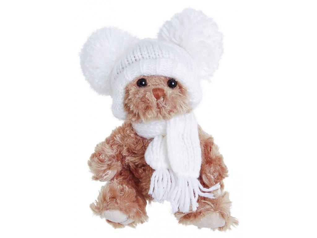 BK JULIAN medvídek, bílá čepice a šála