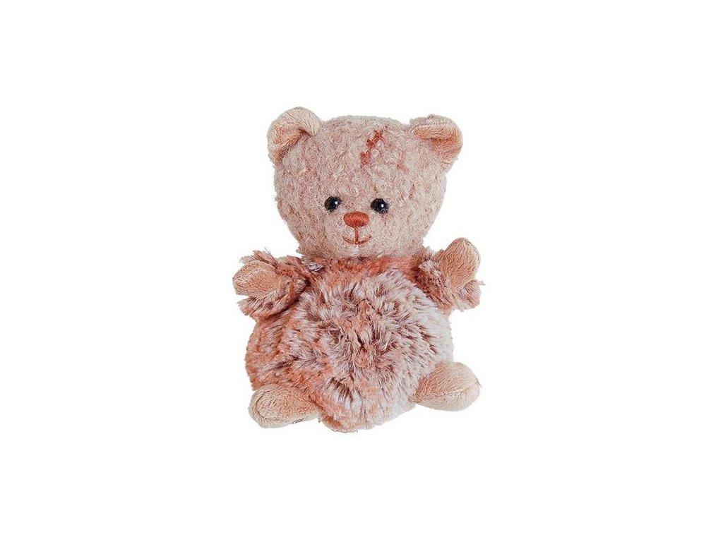 BK BABY LEOPOLD rezavý medvídek s kožíškem