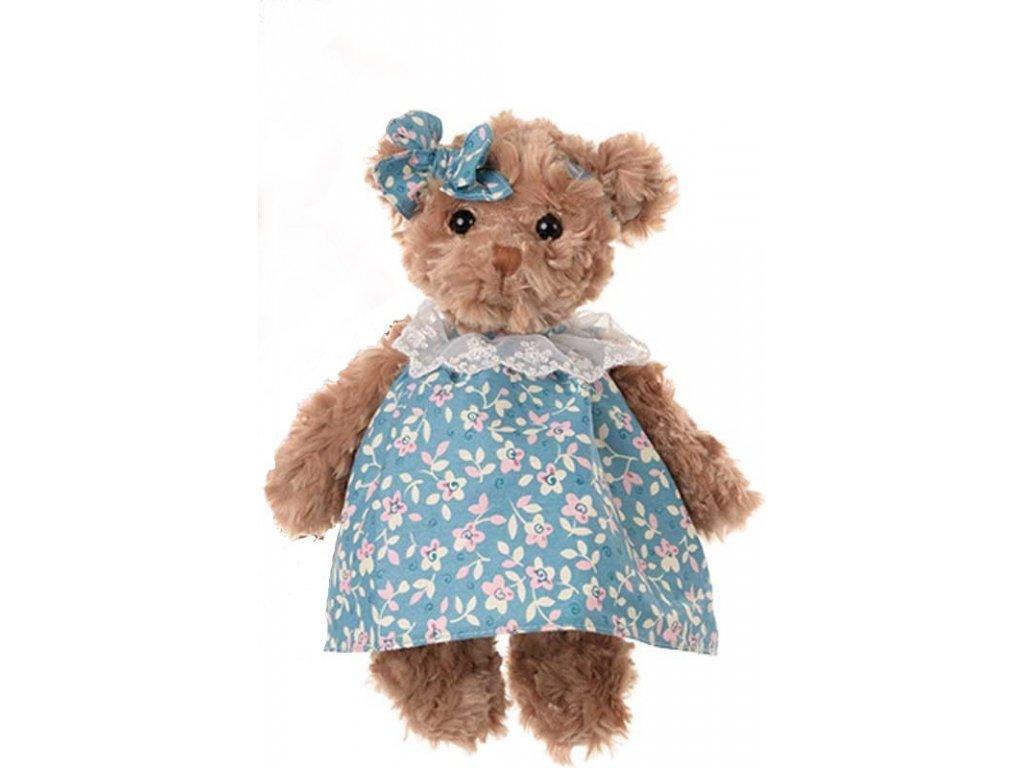 BK HEDVIG medvídek v kytičkových šatech