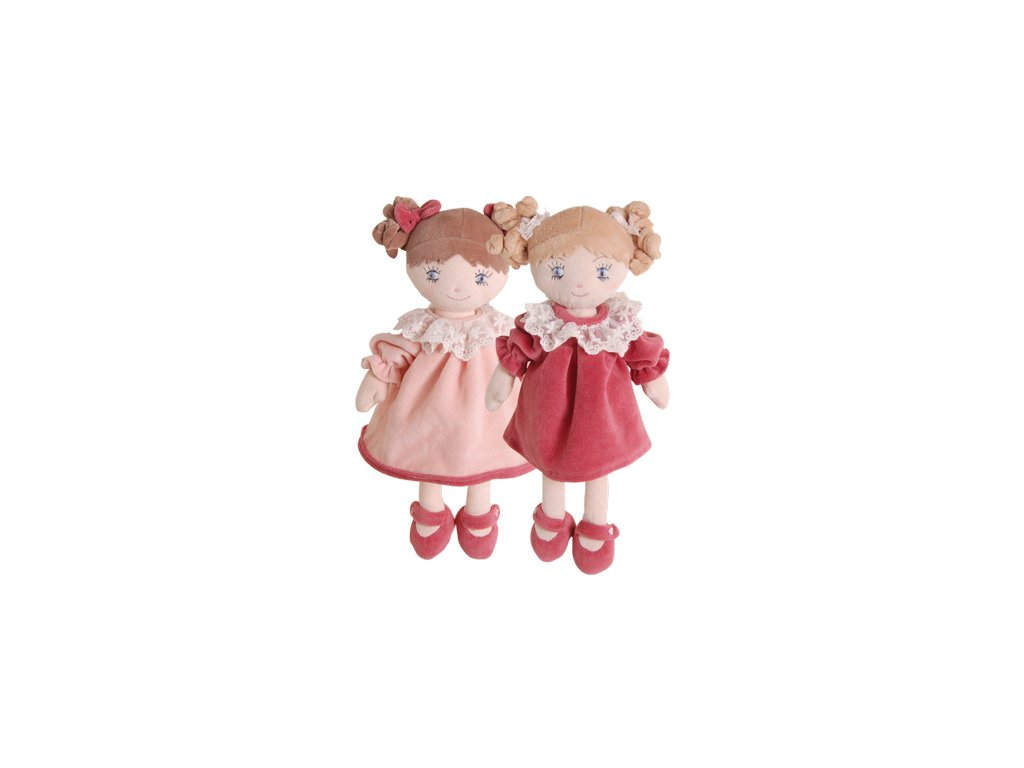BK LOVELY NADINKA panenka tmavě růžové šaty (25cm) Bukowski Design