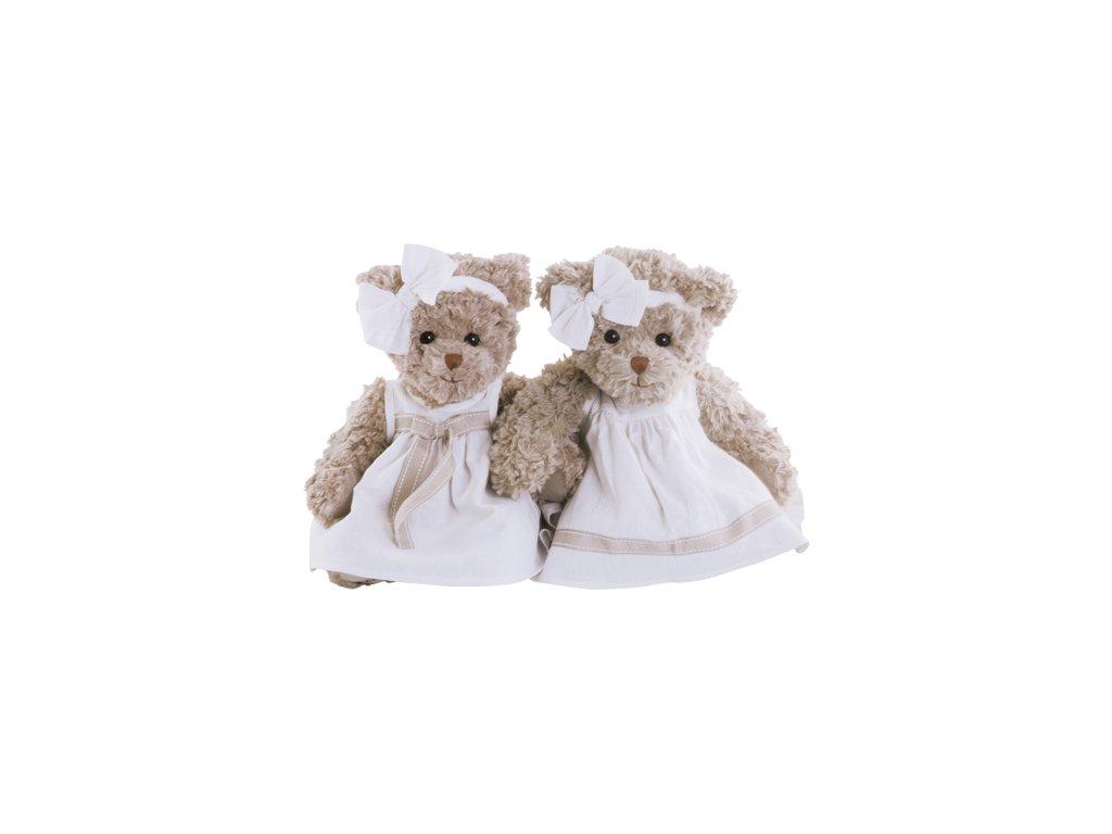 BK BELLA LUNA medvídek s mašlí na šatech