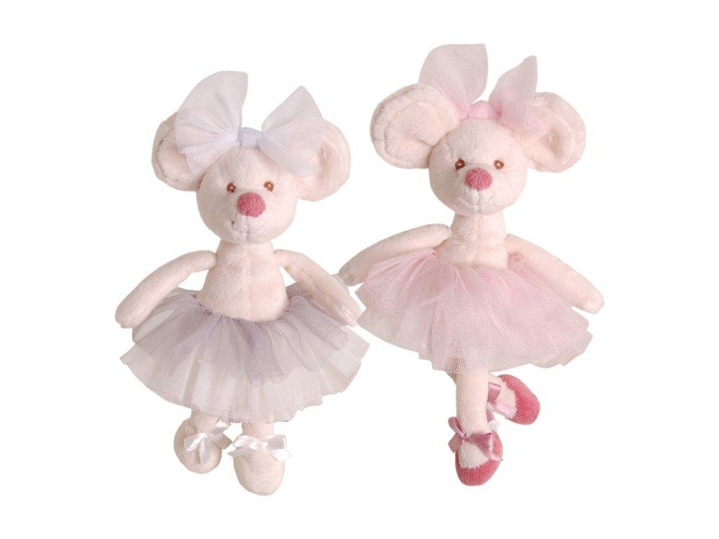 myška Little Antonia, růžová sukně (15cm)