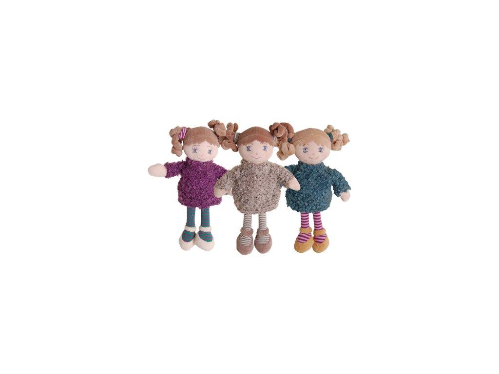 BK MY LITTLE DOLL - WINTER SISTERS PURPLE(18cm) panenka fialové šaty