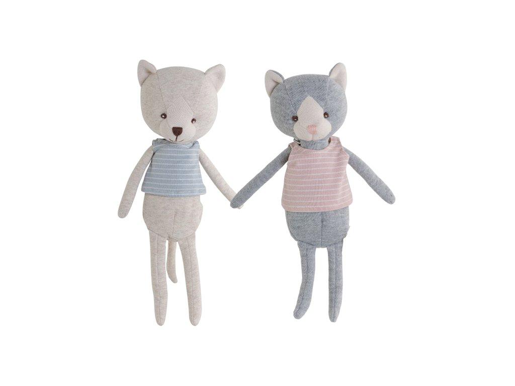 BK WILMA kočička modrá v růžových šatech (35cm) Bukowski Design NOVINKA