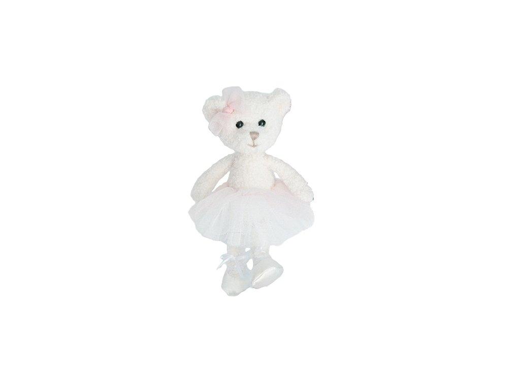 BK CLARA medvídek bílý baletka (15cm) Bukowski Design