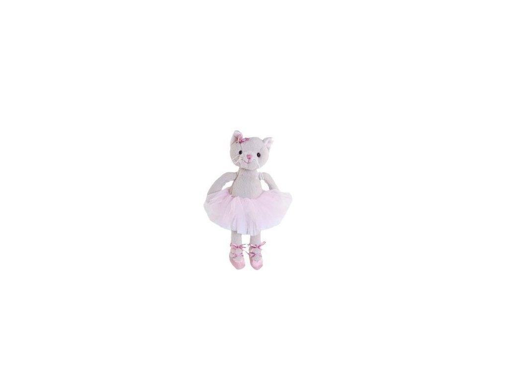 BK ALBERTINA  kočka baletka šedá (15cm)