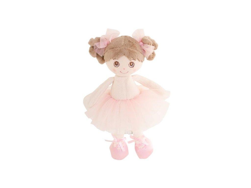 BK LITTLE BALLERINA panenka baletka, tmavé vlasy  (15cm)