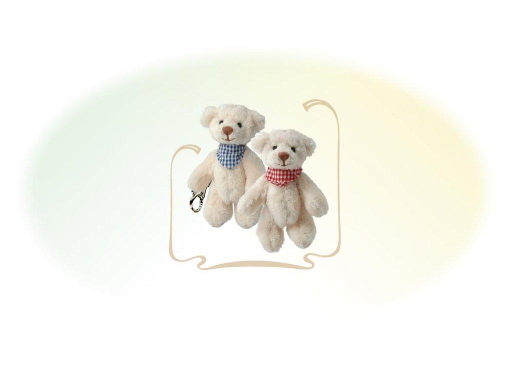 BK BENEDICT medvídci se šátkem klíčenka
