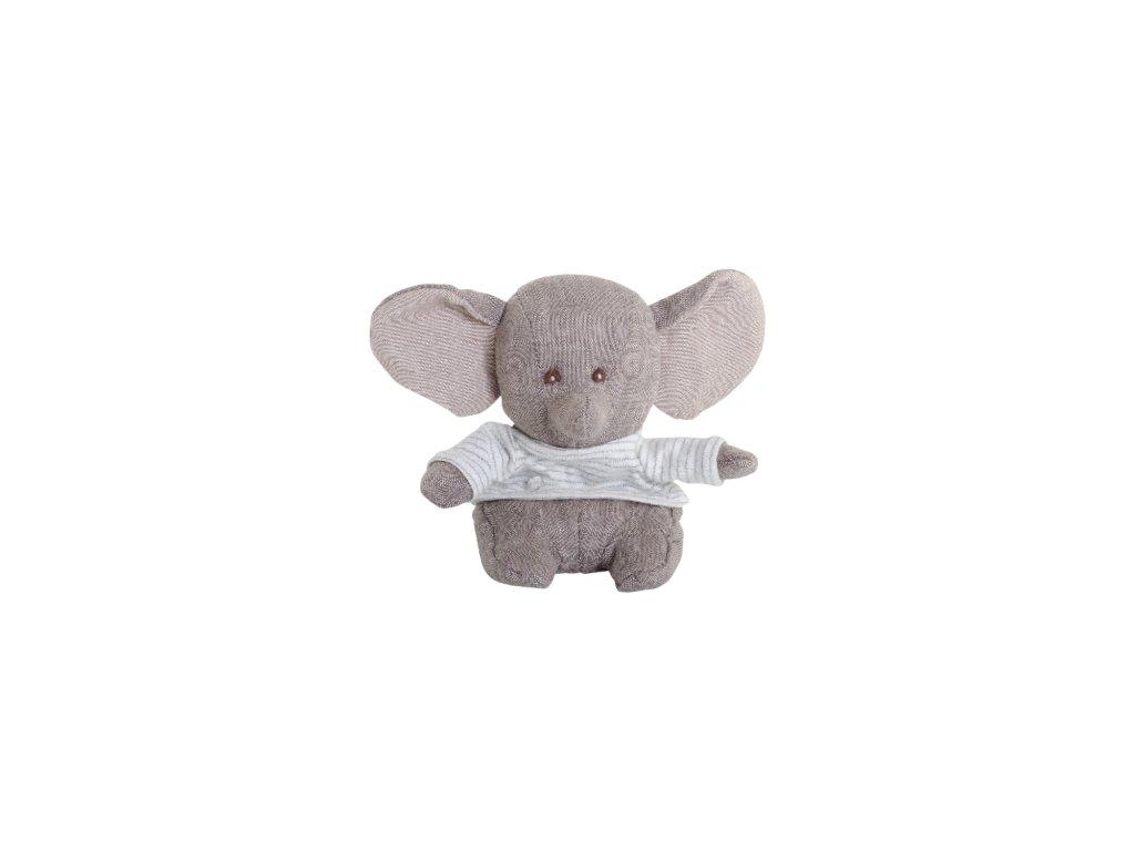 BK LITTLE ABBAS slon v pruhovaném tričku (16cm) NOVINKA