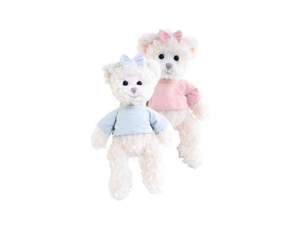 BK LOVA medvěd v modrém tričku (35cm) NOVINKA