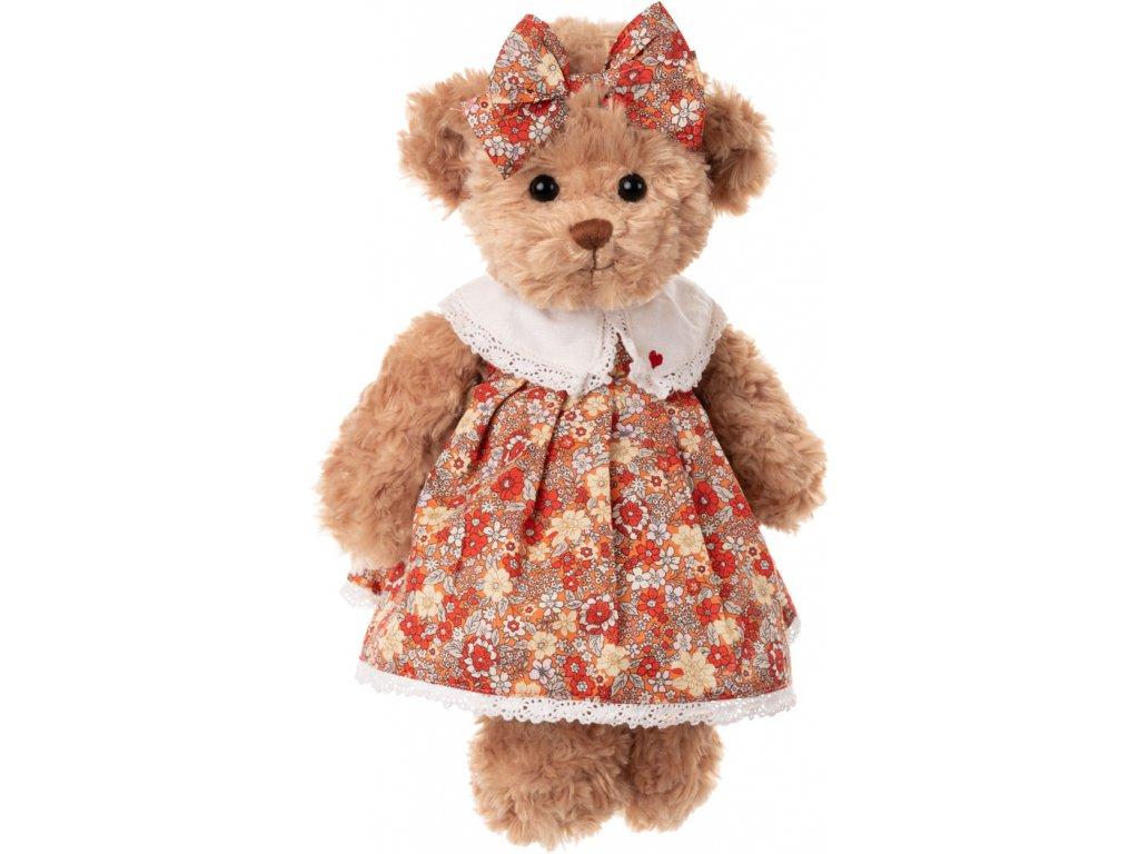 BK HELENA medvěd v květovaných šatech s mašlí