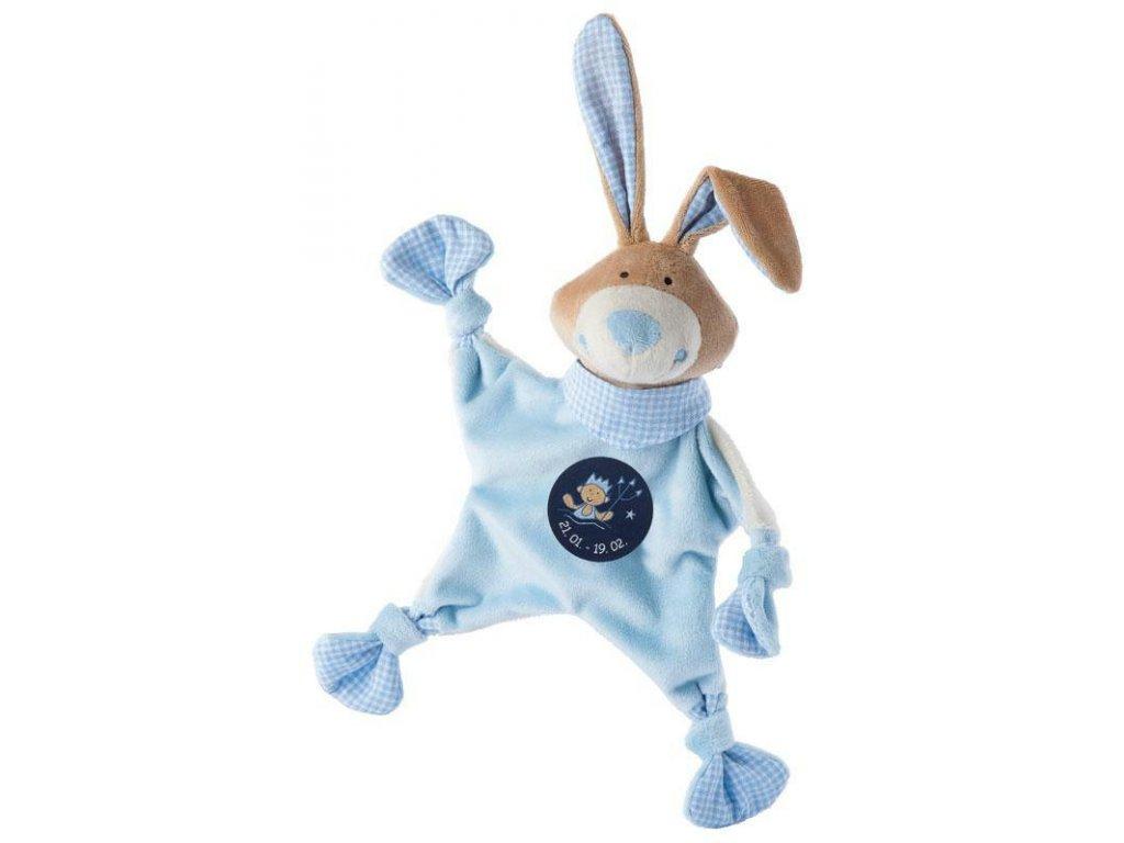 Muchláček znamení - VODNÁŘ - modrý zajíc