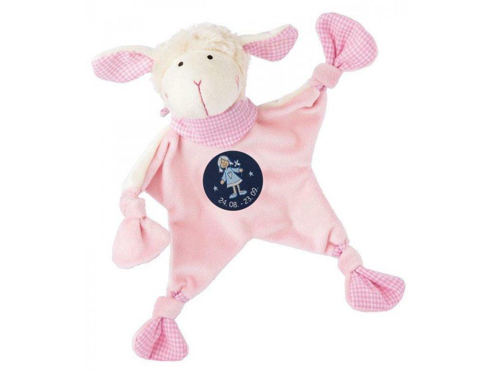 Muchláček znamení - PANNA - růžová ovečka