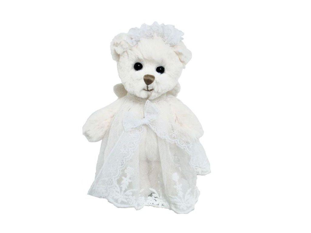 BK BABY HAILEY ANGEL medvídek s bílou stuhou
