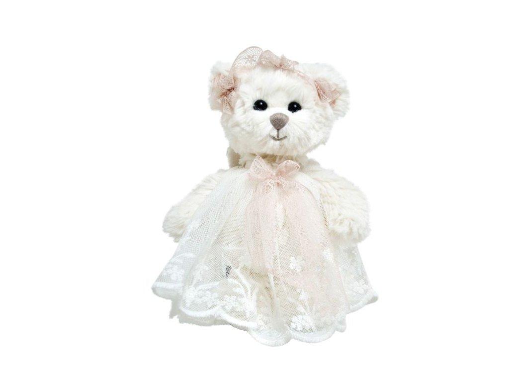 BK BABY HAILEY ANGEL medvěd s růžovou stuhou