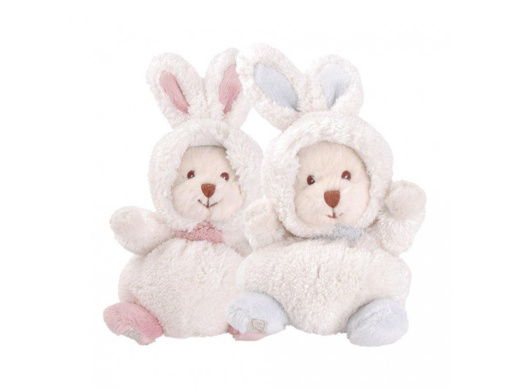 BK ZIGGY PINK bílo-růžový medvěd/zajíček
