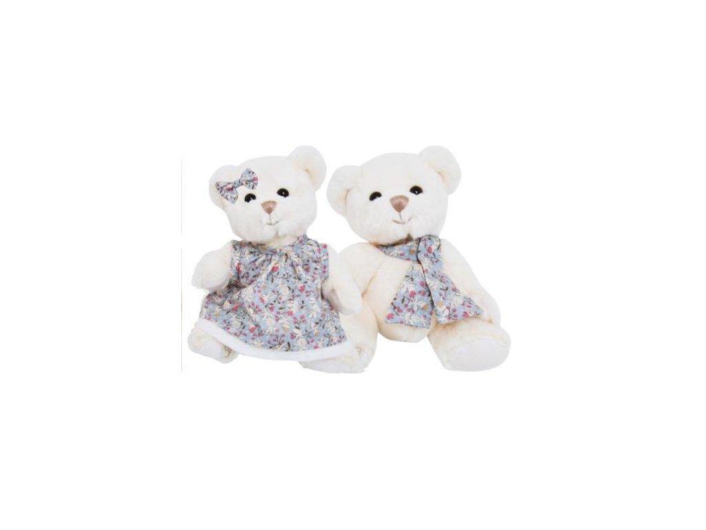 BK OLIVER medvěd s šálou s květy
