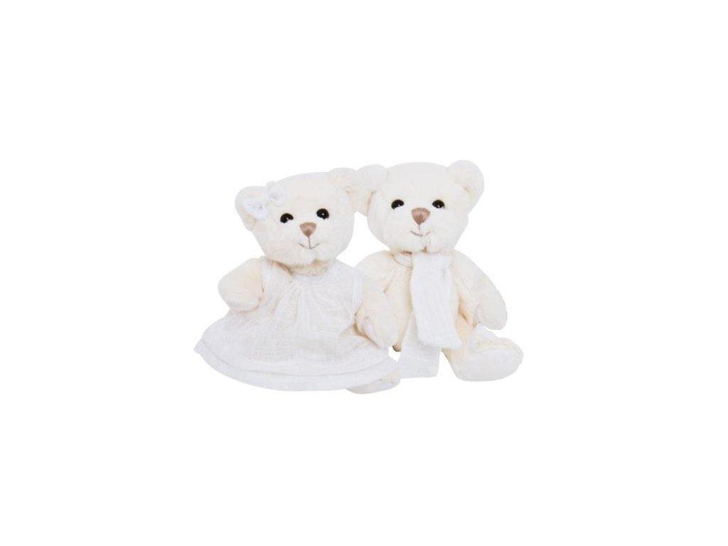 BK OLIVER medvěd s bílou šálou