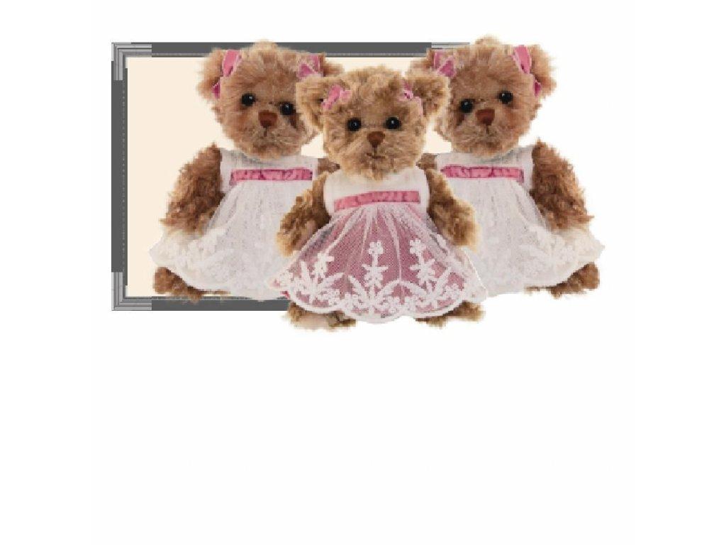 medvídek LITTLE AMELIA (růžové šaty)