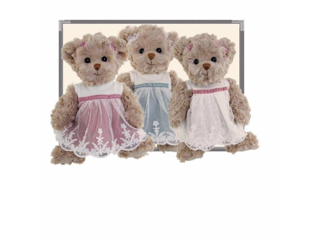 medvídek JOSEFIN (růžové šaty)