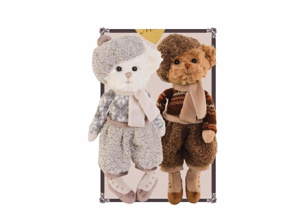 medvídek AUGUST oblečený - retro