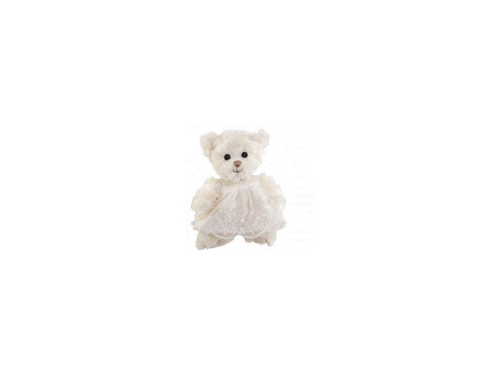 BK LITTLE NINKA medvídek, bílé šaty