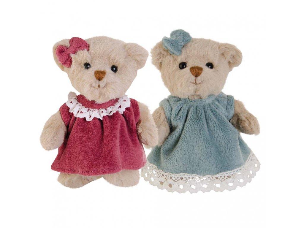 BK AURORA TEAL medvídek, šedo-modré  šaty