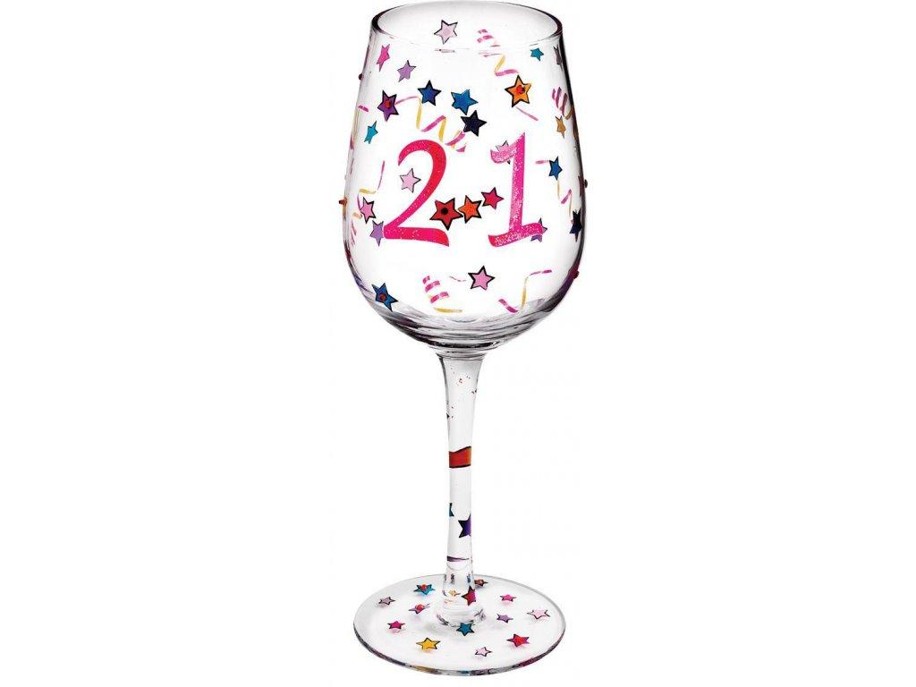 Pohár na víno VÝROČÍ  21