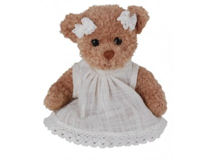BK SOPHIA medvěd v bílých šatech s krajkou