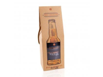 GEL sprchový a koupelový 360 ml Men's collection - BEER v láhvi, vůně: santalové dřevo ACCENTRA