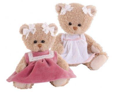 BK NELLY medvídek v růžových šatech